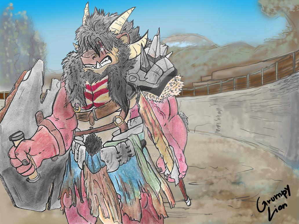 Fileossur, the last gladiator by Grumpy-Lion