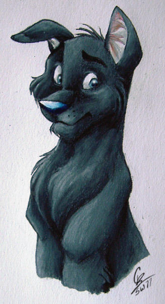 Padfoot in Prismacolor by spiritwolf77