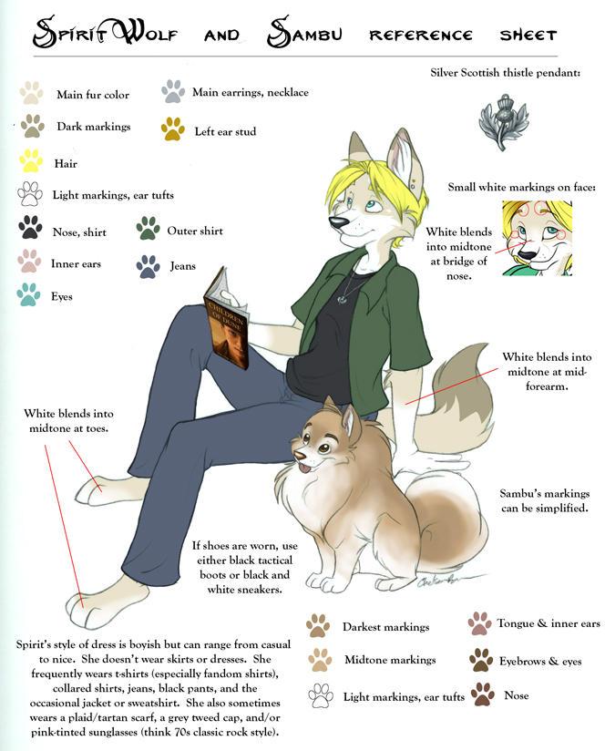 Spirit and Sambu Ref Sheet 06 by spiritwolf77