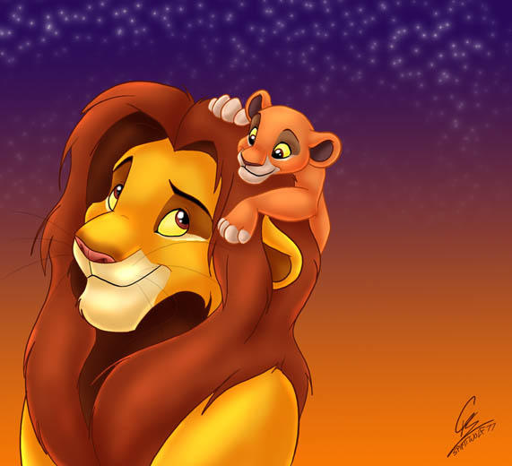 Simba and Kiara by spi...