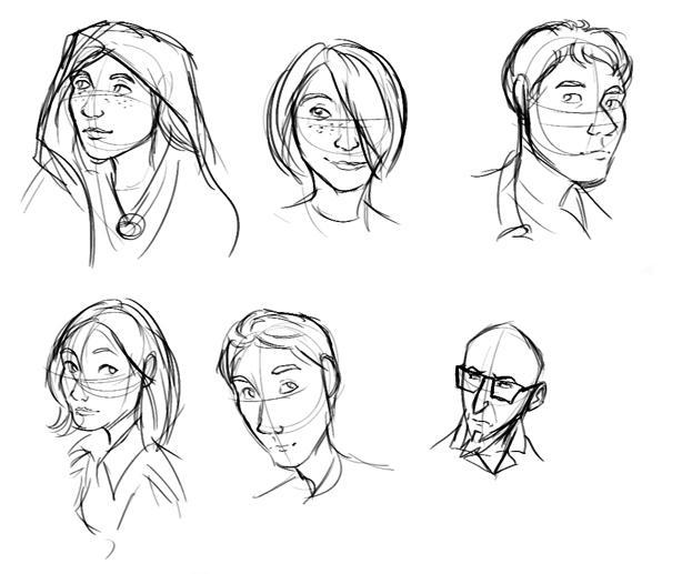 cartoon drawing of people