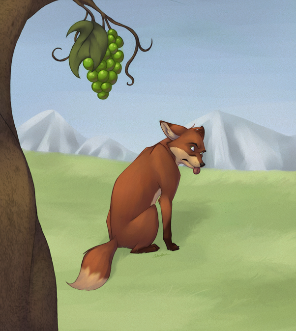 """the fox and the grapes In the field of psychology, cognitive dissonance is the mental discomfort (psychological stress)  in the fable of """"the fox and the grapes"""", by aesop, on ."""