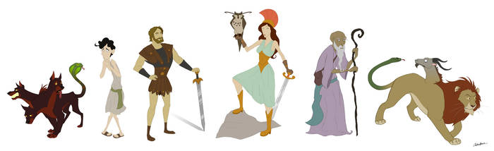 Character Design - Greek Myths by spiritwolf77