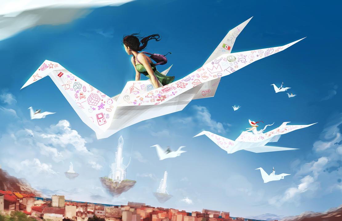 летающий человек с крыльями картинки