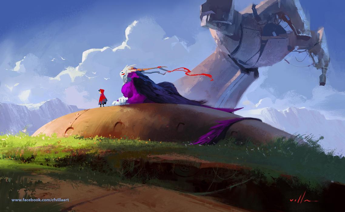 Concept 01 - Ghibli tribute. by zano