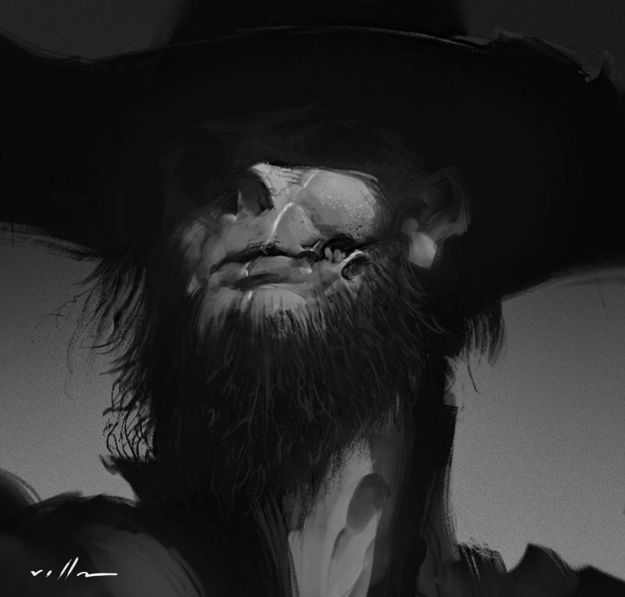 Undead sketch portrait by zano