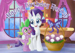 Happy BDay Rarity! CM for dcencia