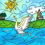 Stainglass Swan