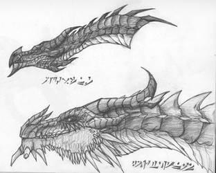 Dragons of Skyrim by lugiamaster