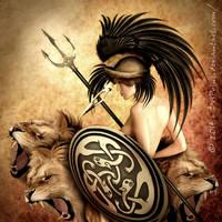 Britannia - Shieldmaiden of Albion by DriPoint