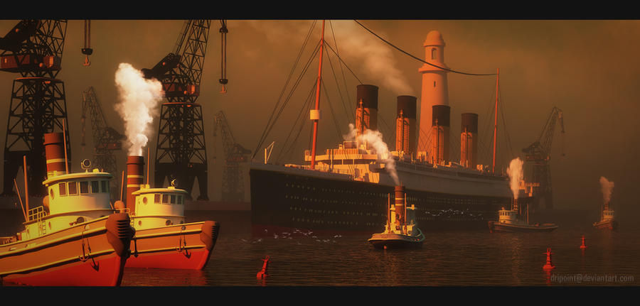 RMS Titanic - Belfast - March 1912 by DriPoint