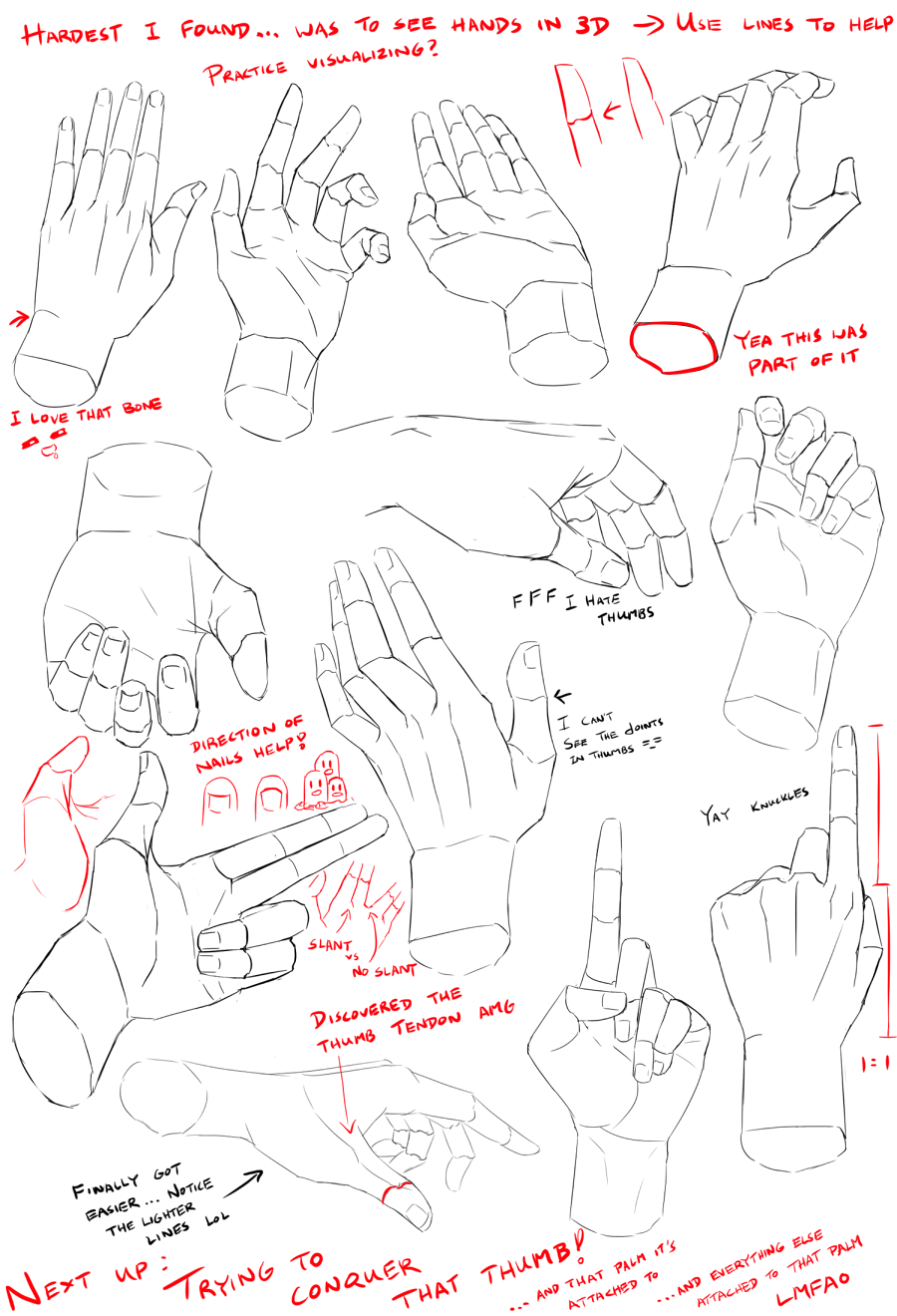 Hand Study 1 by Lijon