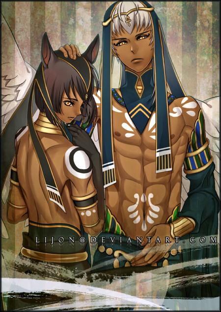 Kamigami no Asobi: Thoth + Anubis by Lijon