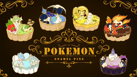 Pokemon Enamel Pins by Huuni