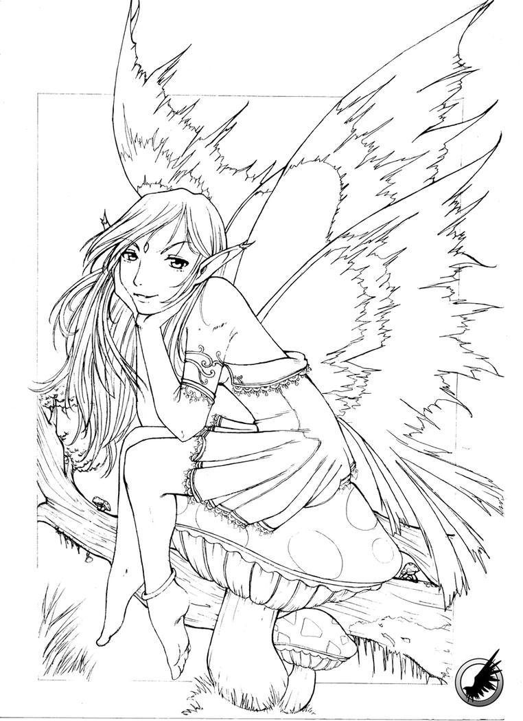 Leaf Fairy Sketch by RadicallDreamer
