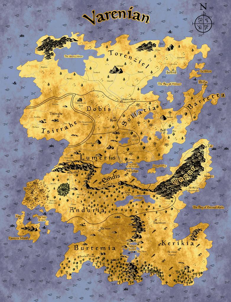 Map of Varenian (Digital Ver) by Whitethunder990