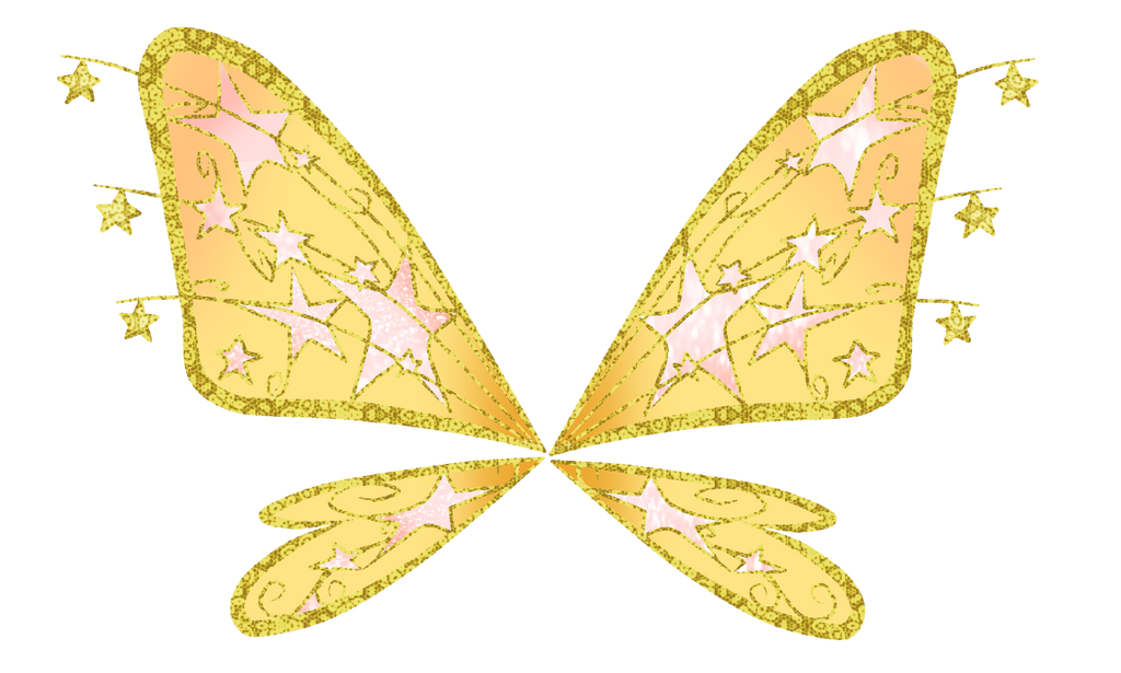 Wing Gold >> Stella yellow/gold Believix wings by CrystalisZelda on ...