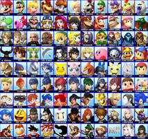 My Smash Roster. by CrystalisZelda