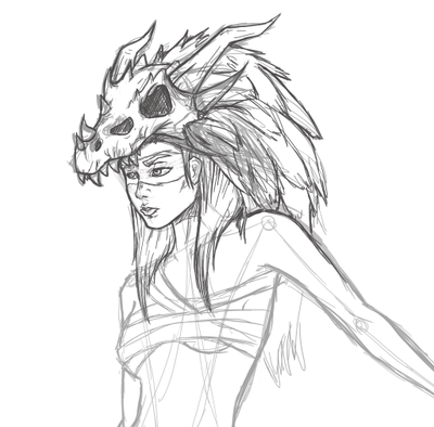 Dragon girl WIP by DaniiScream