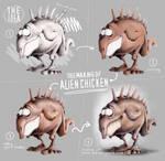 The creation of Alien chicken