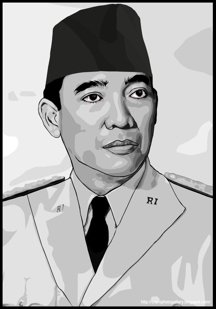 Sketsa Gambar Soekarno Garlerisket