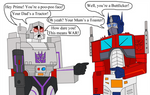 Optimus Prime and Megatron by Luke-the-F0x