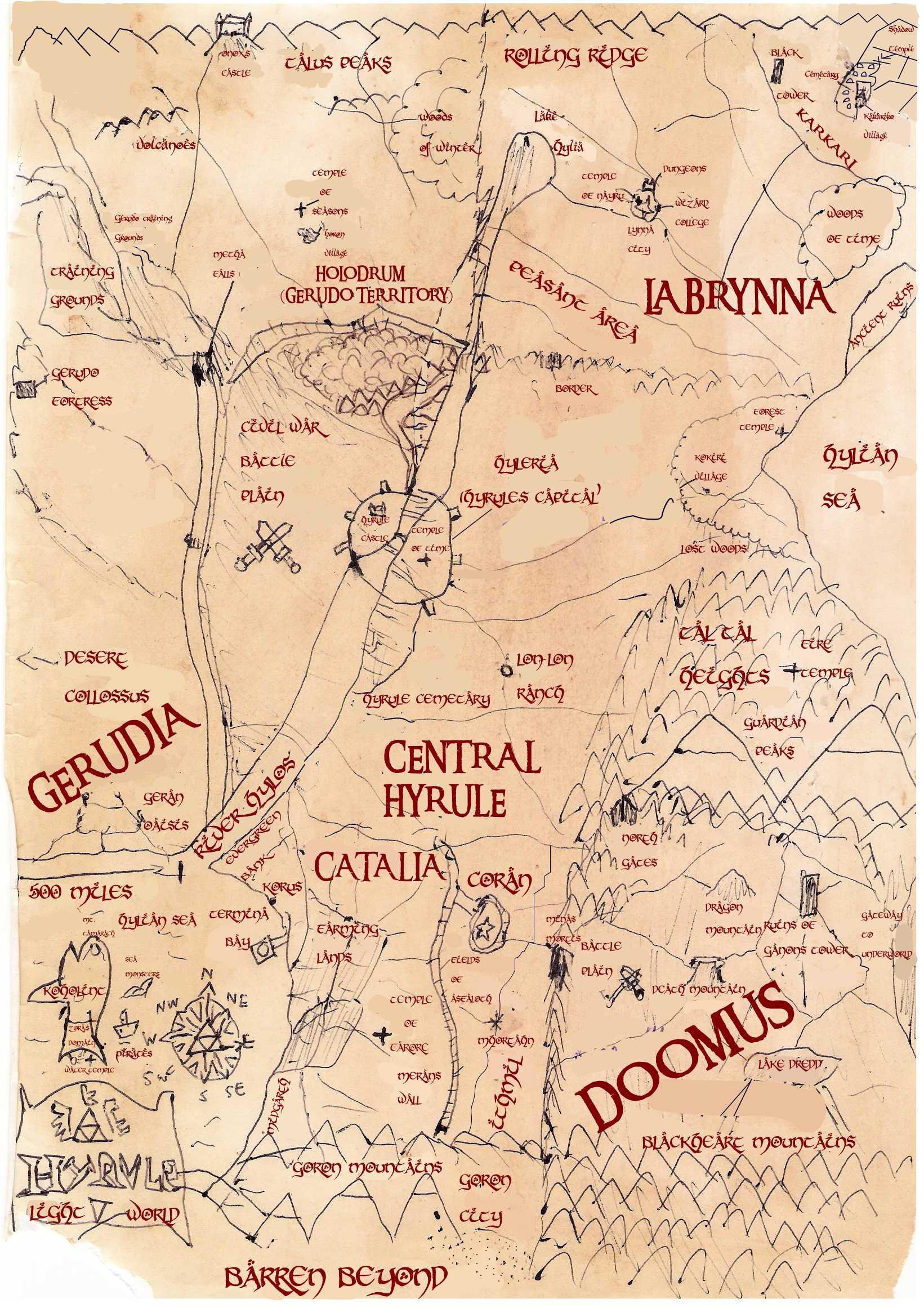 Ye Olde Mappe of Hyrule by Luke-the-F0x