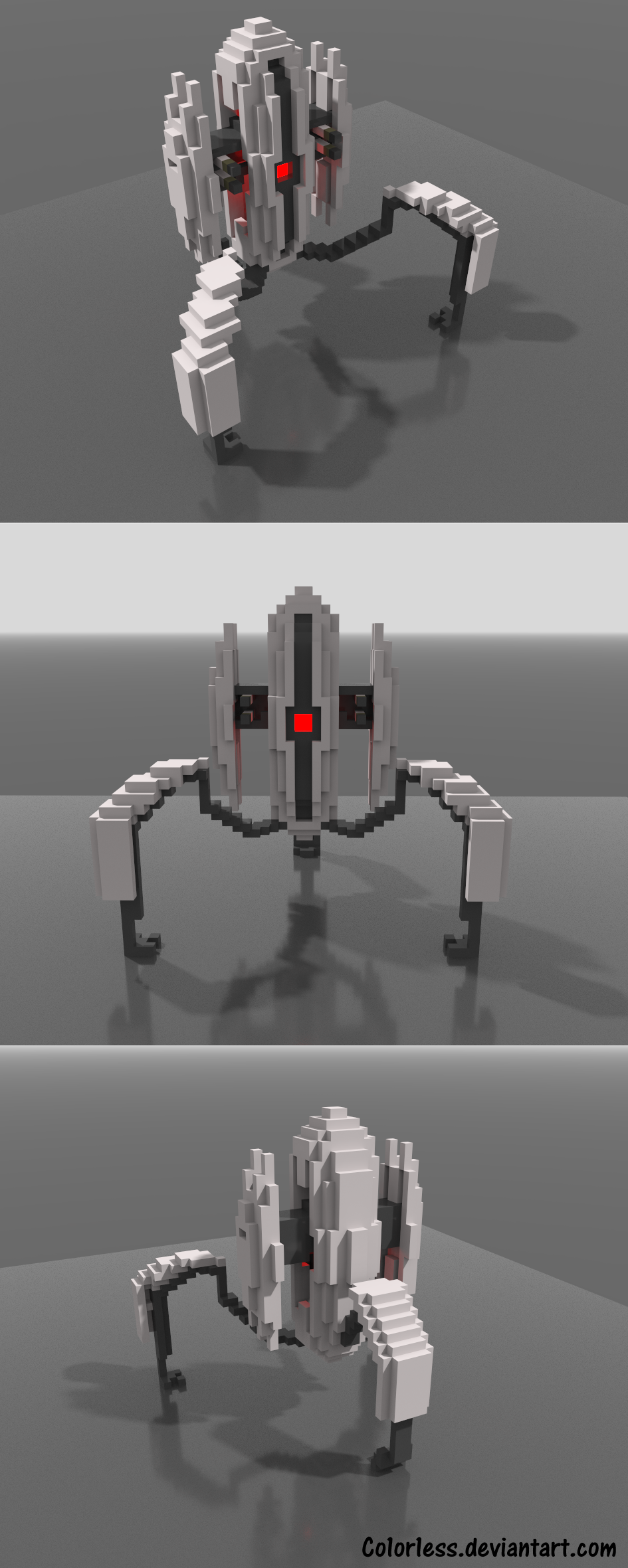 MagicaVoxel Practice - Portal Turret by Co1or1ess on DeviantArt