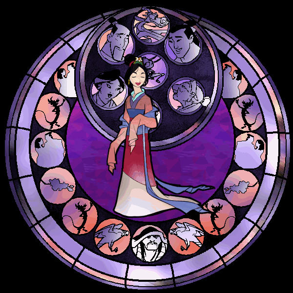 Stained Glass Mulan By Leah Chan On Deviantart