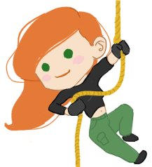 :Kim Possible Chibi Vector: by Leah-Chan