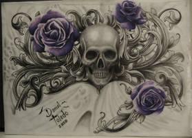 Skull By Daniel Toledo by toledotattoo