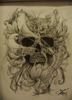 Black Skull By Daniel Toledo by toledotattoo