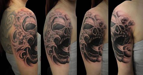 Skull 2 By Daniel Toledo by toledotattoo