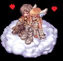 #2 Hazu'n'Ryoga snuggling in heaven by Nazue