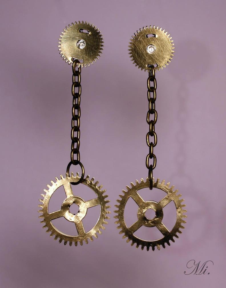 Steampunk earrings 18 by TheCraftsman