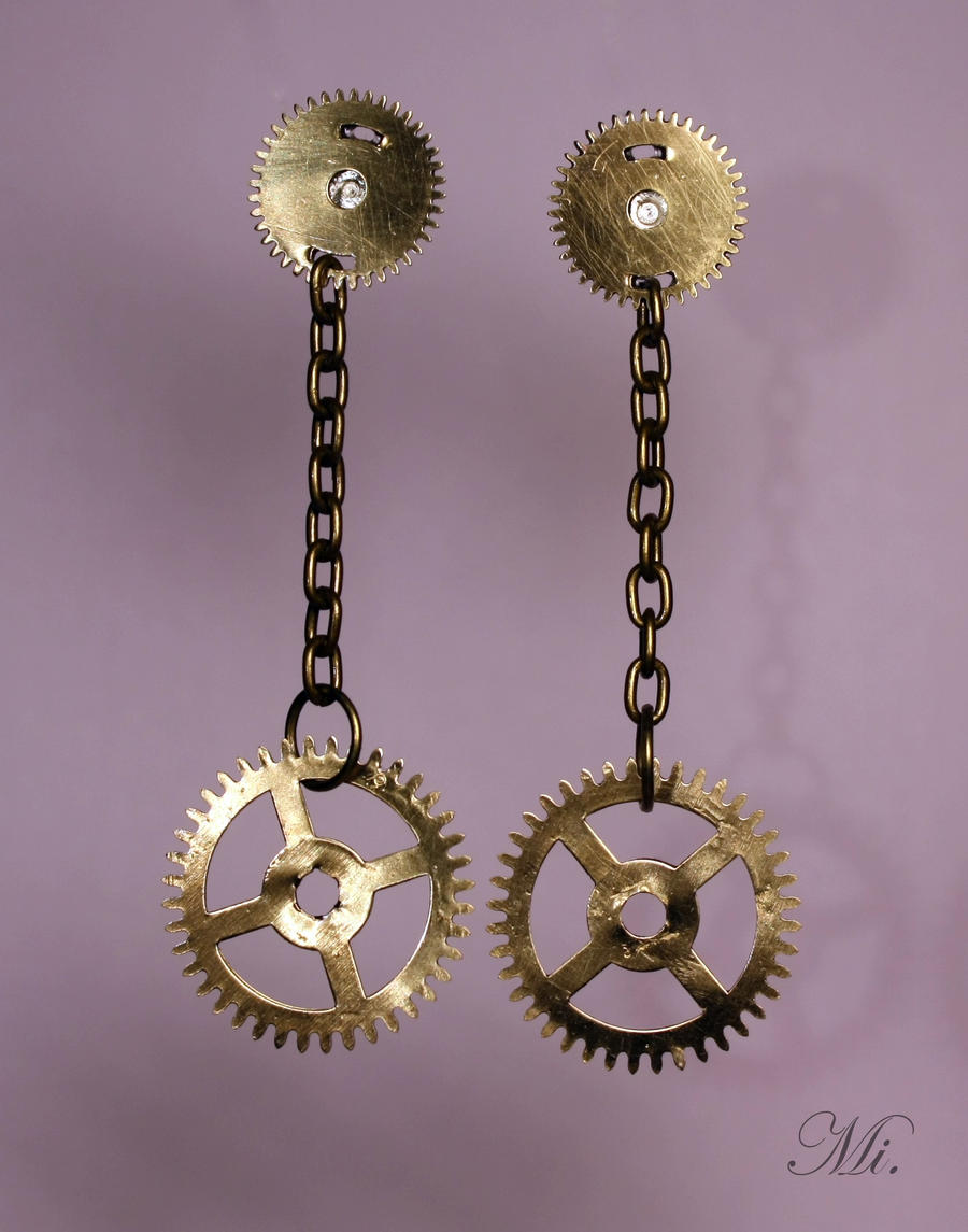 Steampunk earrings 18 by TheCraftsman