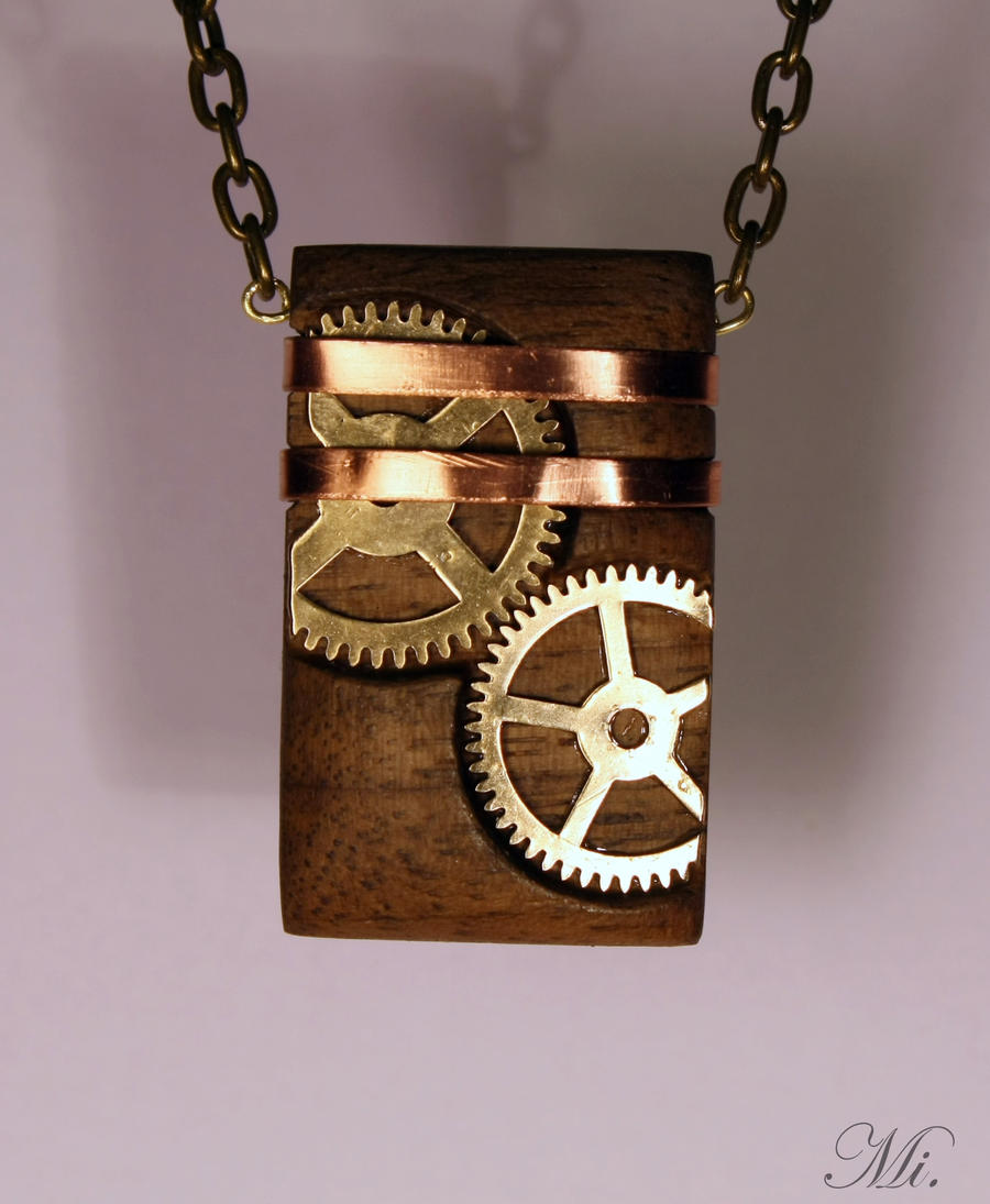 Steampunk pendant 48 by TheCraftsman