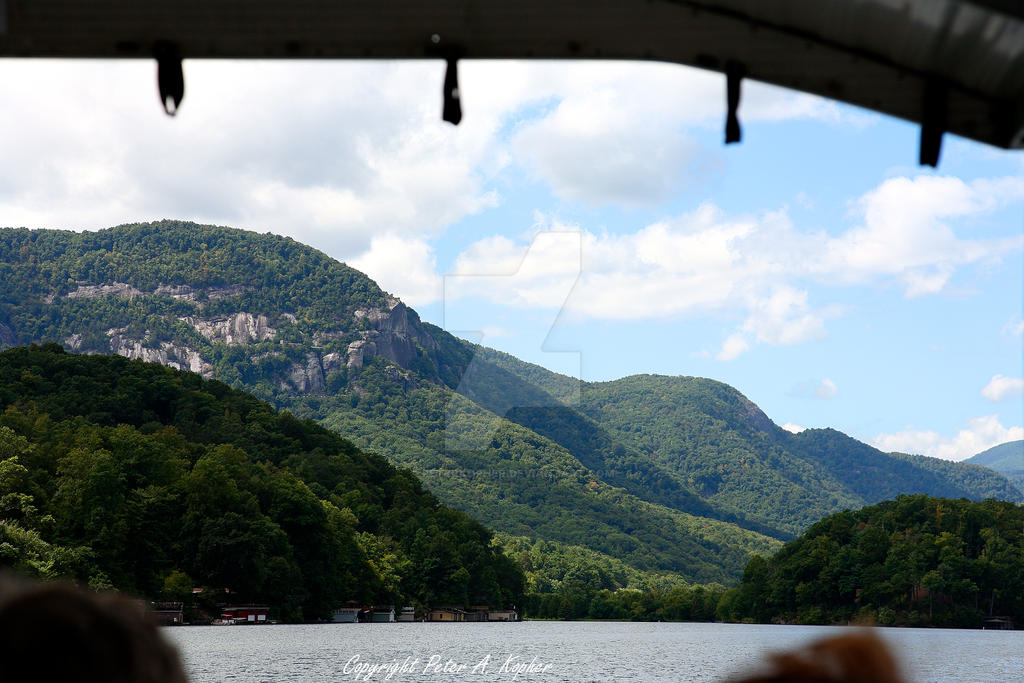 Chimney Rock from Lake Lure by peterkopher