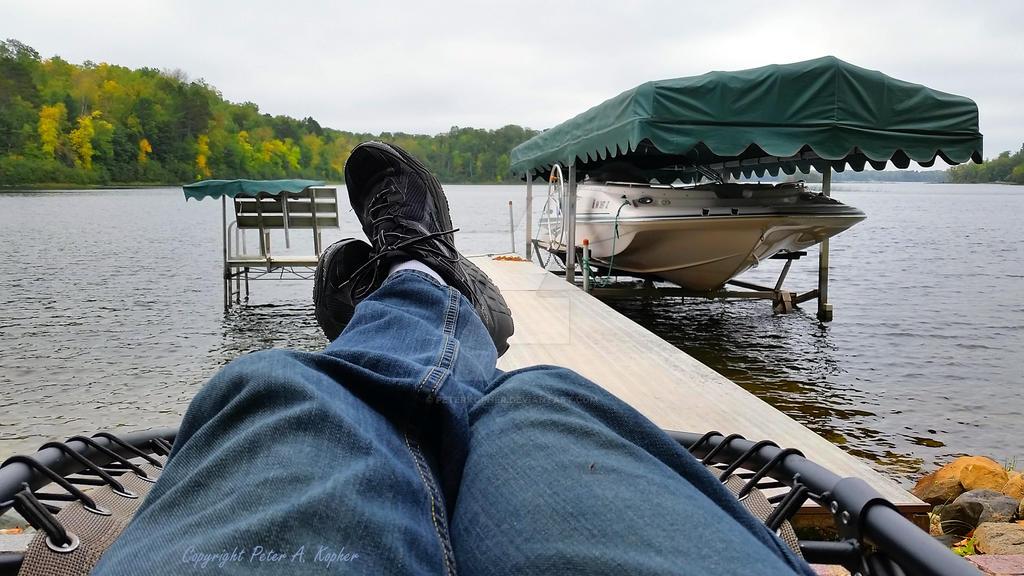 Kicking Back at Long Lake by peterkopher