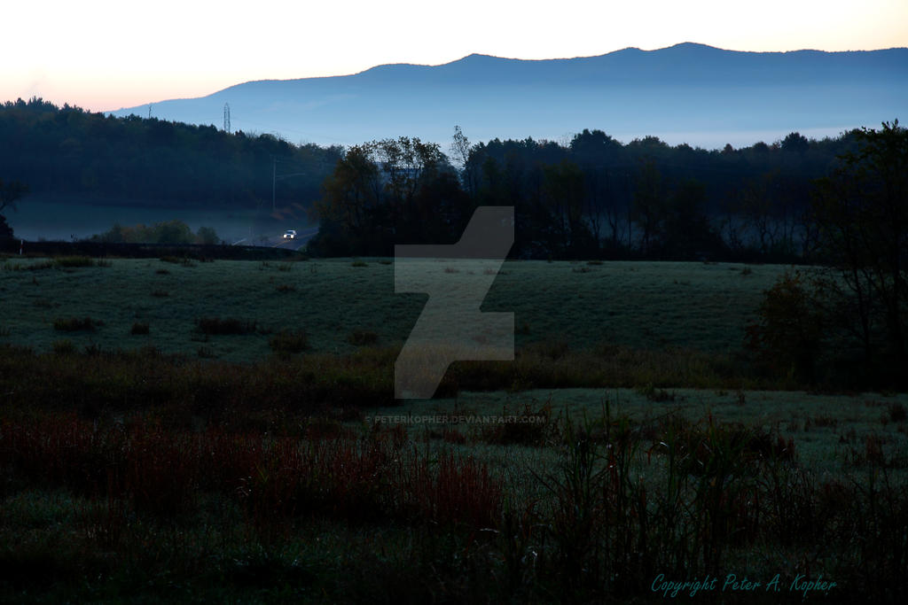A Blue Ridge Morning by peterkopher