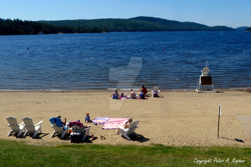 Schroon Lake Beach by peterkopher