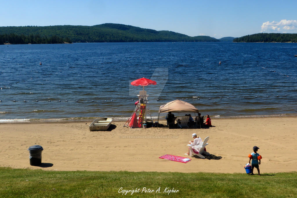 Schroon Lake Beach 2 by peterkopher