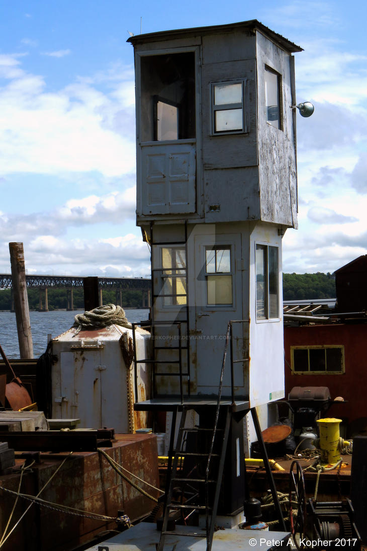Hudson River Wheelhouse  by peterkopher