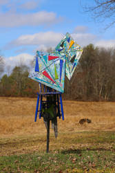 Two Kites, Chair and Wheel