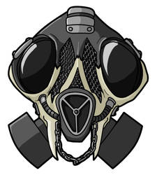 Skull Gas Mask by DotCommunist