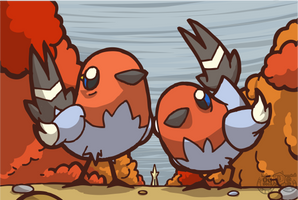Fletchlings Card Art by Concore