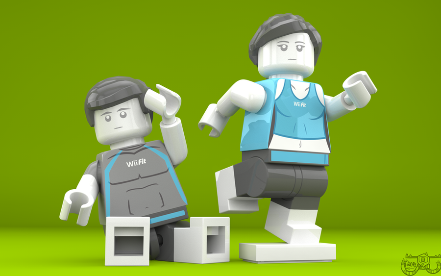 LEGO Smash Bros. - Wii Fit Trainers by Concore on DeviantArt