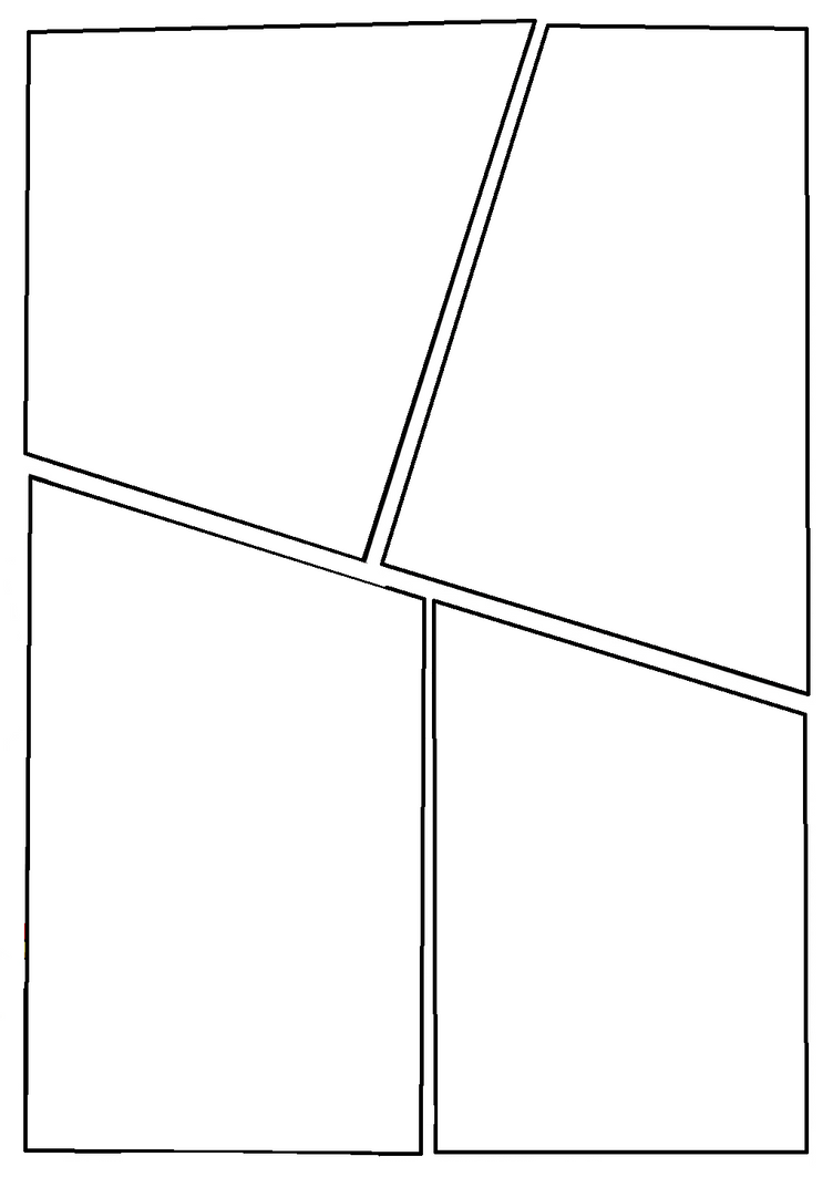 Comic Book Page Layout Template Blank Empty Cartoon
