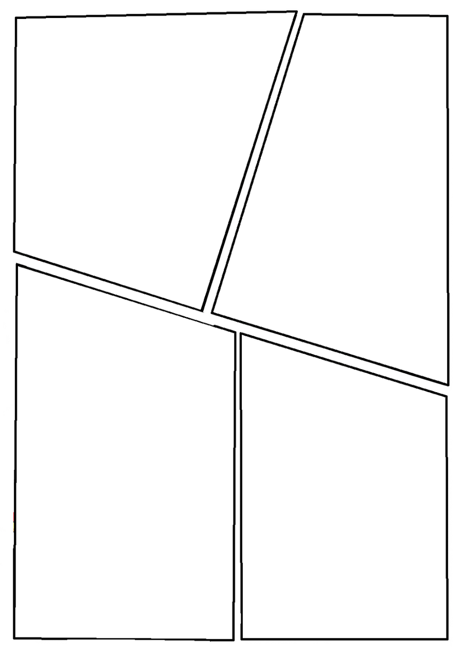 Blank comic page 2 by c0nn0rman43 on deviantart for Four panel comic strip template