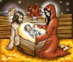The child in the manger